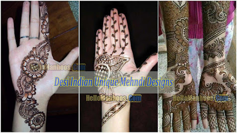 Indian Desi Mehndi Design For Girls Wedding