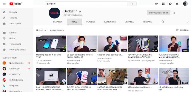 5 Rekomendasi Channel Youtube Bagi Kamu Para Pecinta Gadget PART 1