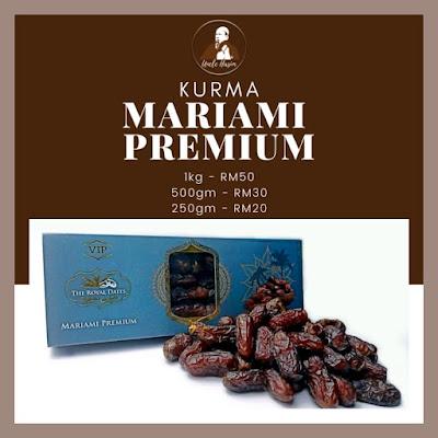 Senarai Harga Kurma Mariami Premium mengikut berat