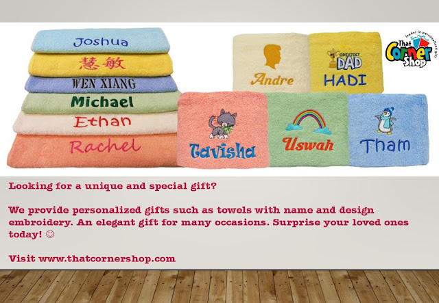 Poster of Towels with name embroidery in Singapore