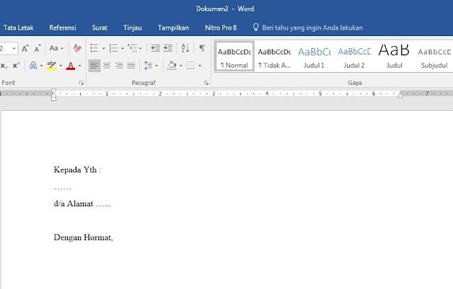 Cara membuat surat dengan sistem mailings
