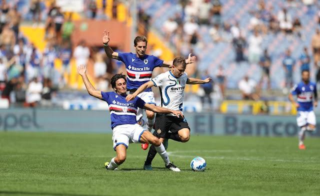 ملخص واهداف مباراة انتر ميلان وسامبدوريا (2-2) الدوري الايطالي