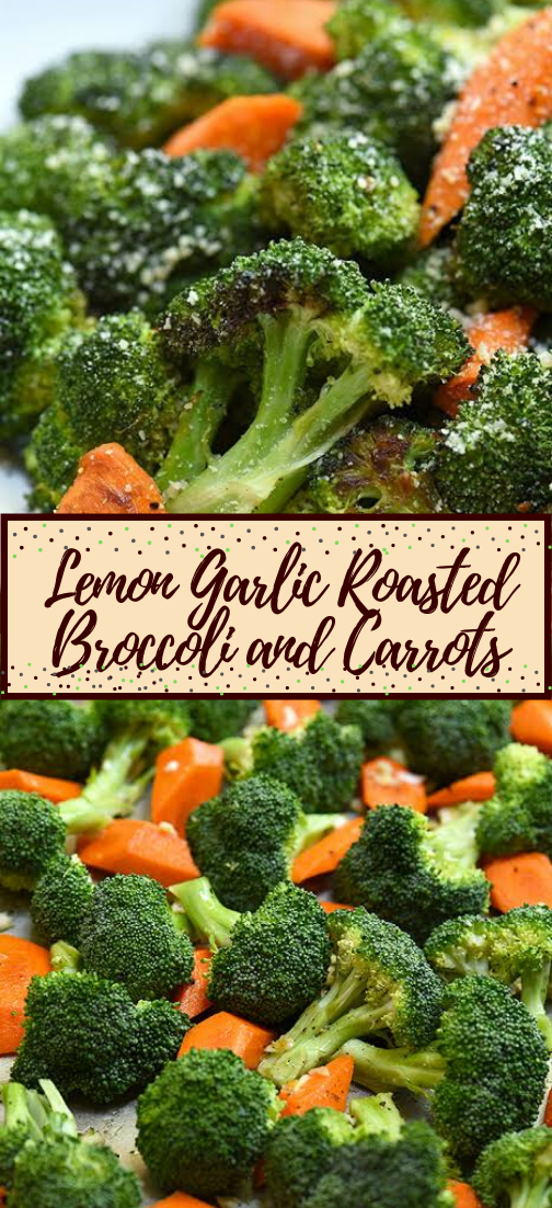 Lemon Garlic Roasted Broccoli and Carrots #vegan #vegetarian #soup #breakfast #lunch