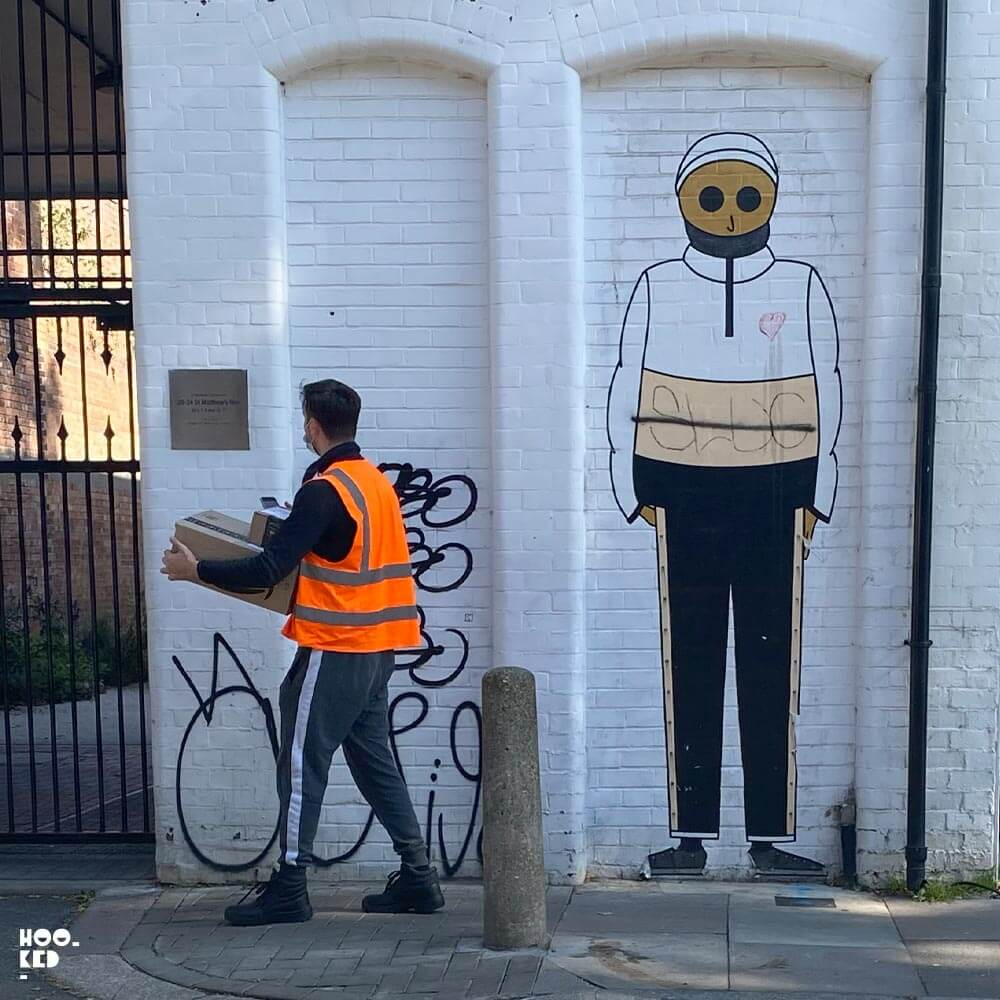 French Street Art Duo Kamlaurene's London Street Art Paste-ups
