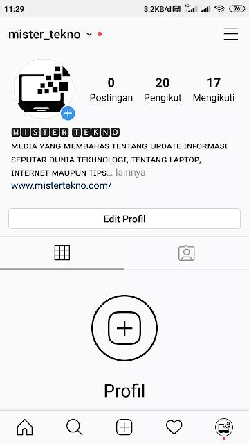 Mempercantik Font Profil di Instagram