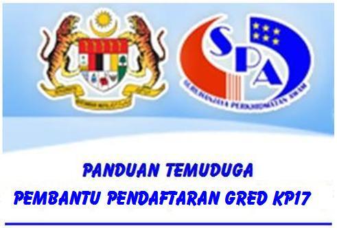 Panduan Temuduga Pembantu Pendaftaran Gred KP17