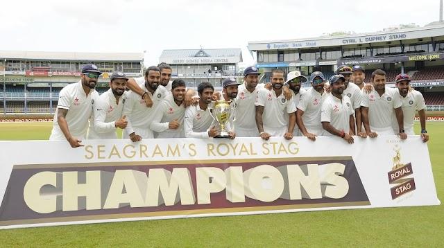 चौथा टेस्ट ड्रा - सीरीज़ 2-0 से भारत के नाम - पाकिस्तान बना नया नंबर 1