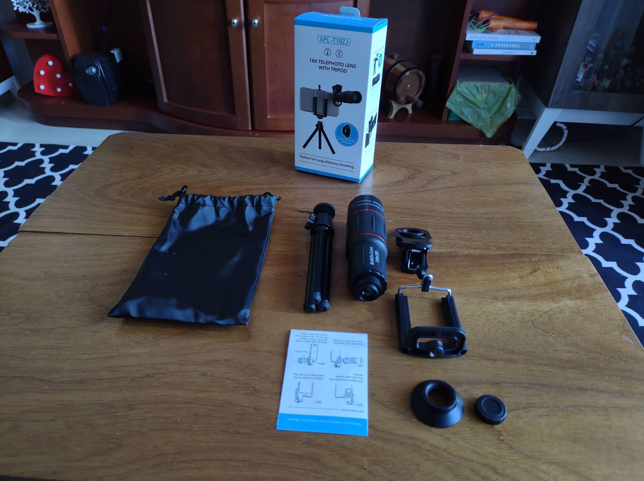 kit lente externa smartphone apexel technology apl t18zj