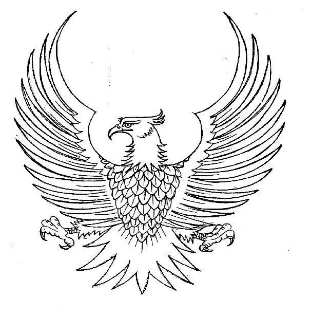 Kaligrafi Burung Garuda Nusagates