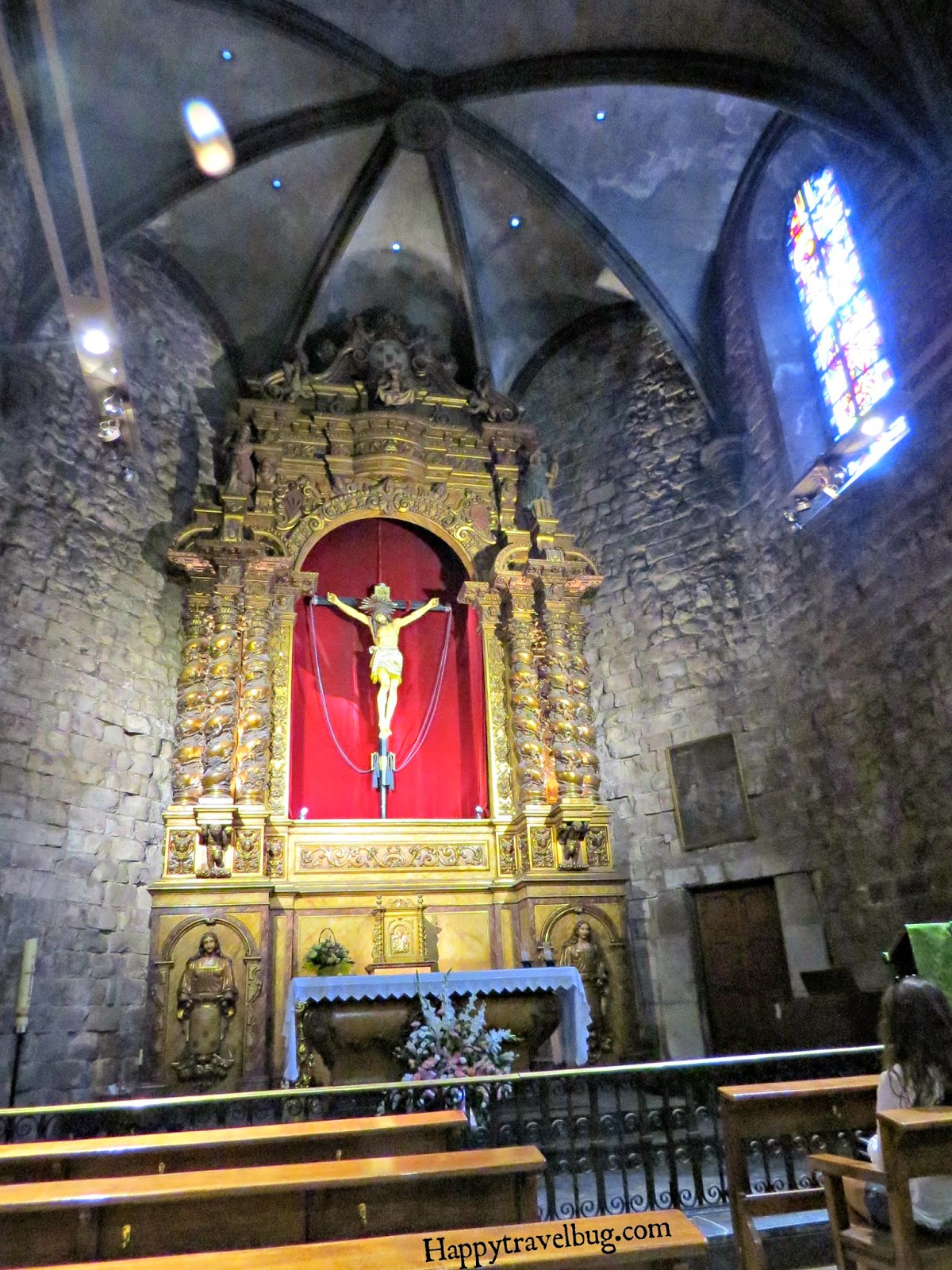 The chapel connected to The Basilica Santa Maria del Pi in Barcelona, Spain