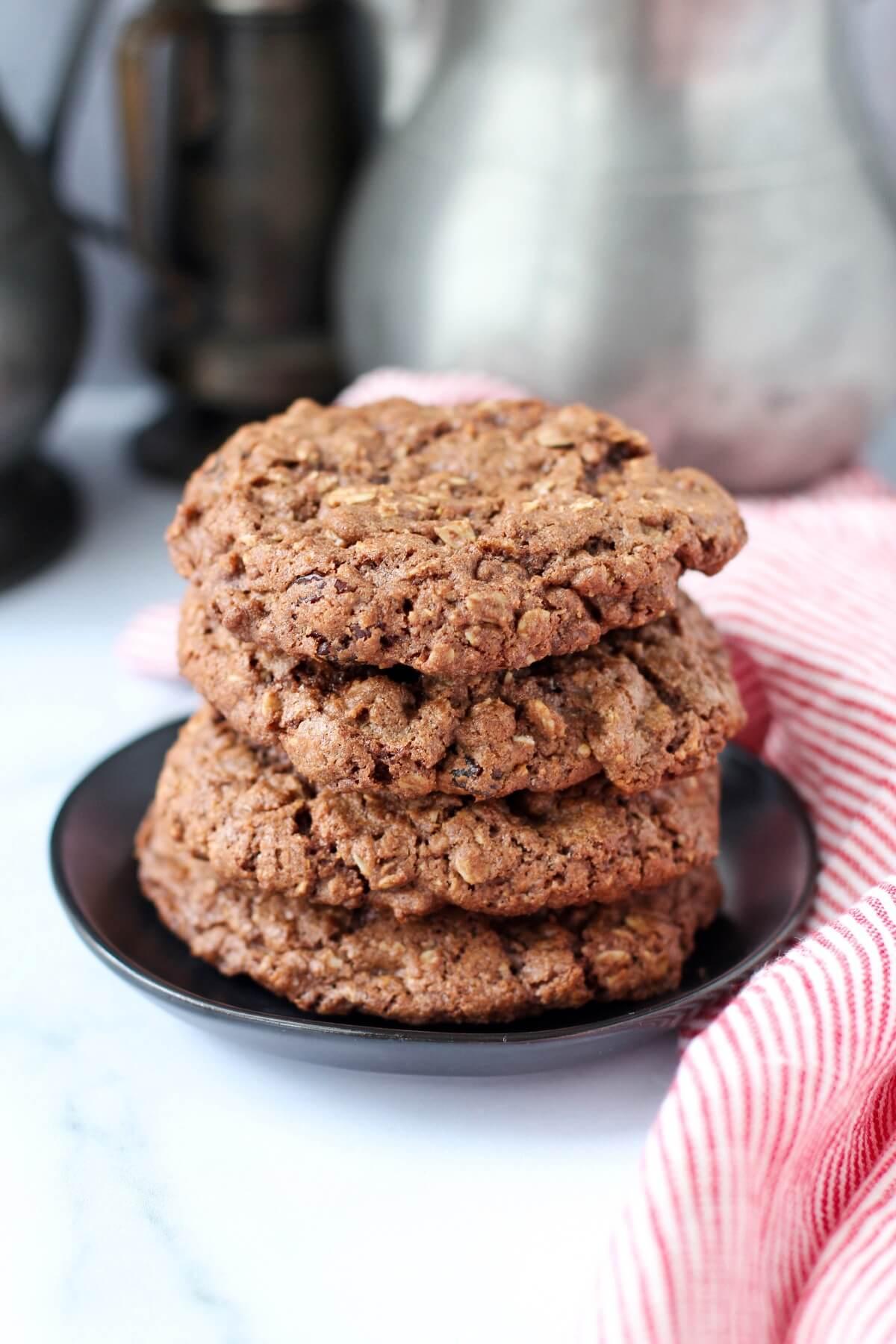 Milk Chocolate Cherry Oatmeal Cookies
