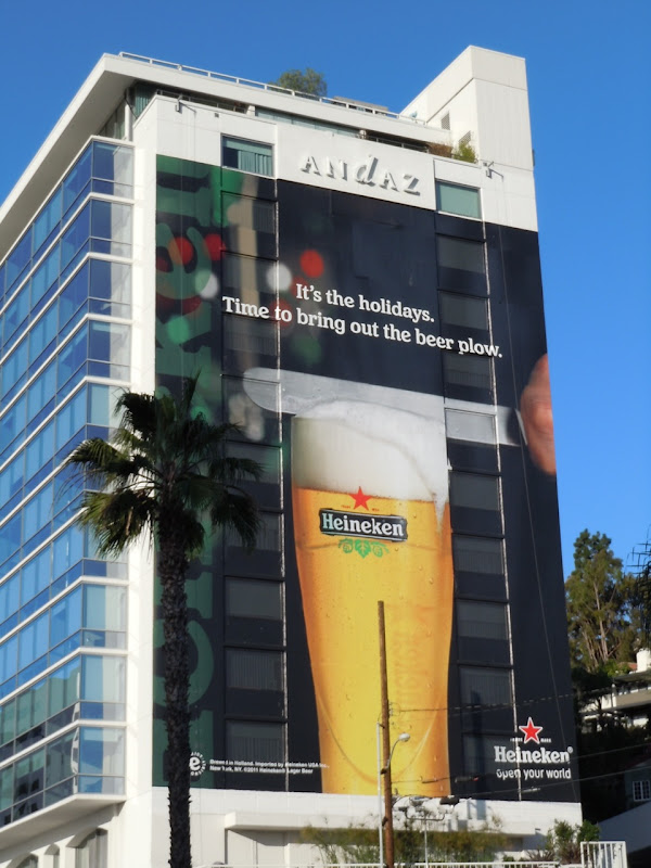 Heineken Holidays beer plow billboard