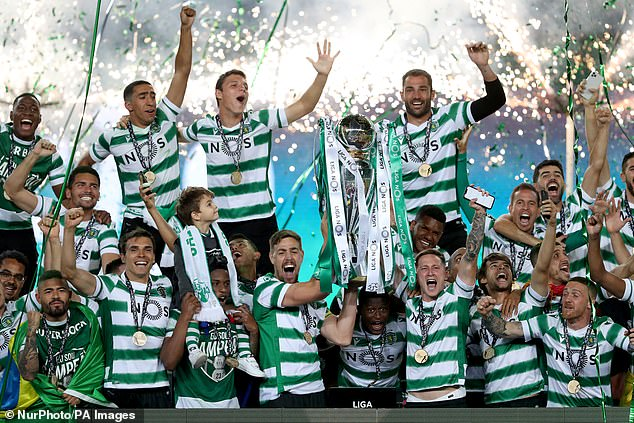 Sporting Lisbon lift their first Portuguese title since 2002