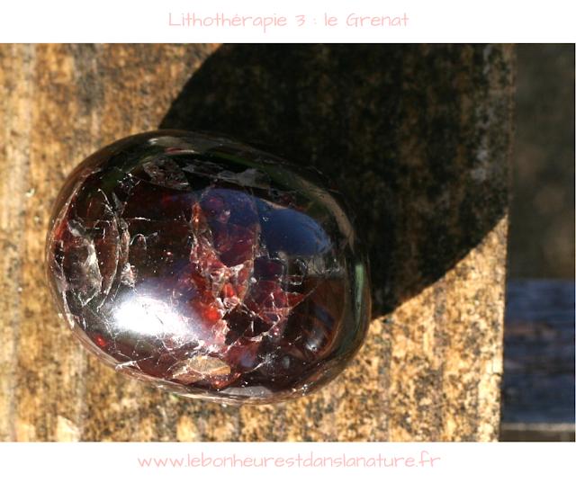 Lithothérapie grenat almandin vertus entretien conseils purification rechargement