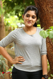 Actress Niveda Thomas Pictures in Black Jeans at Gentleman Movie Interview  0124.JPG