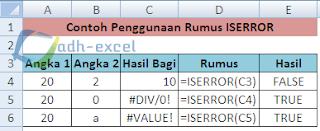 rumus ISERROR Excel