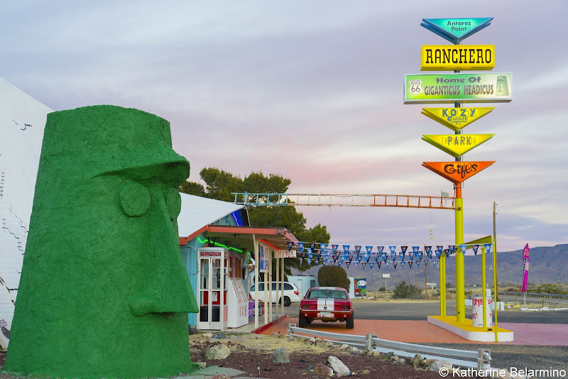 Giganticus Headicus Antares Point Arizona Route 66 Road Trip Attractions