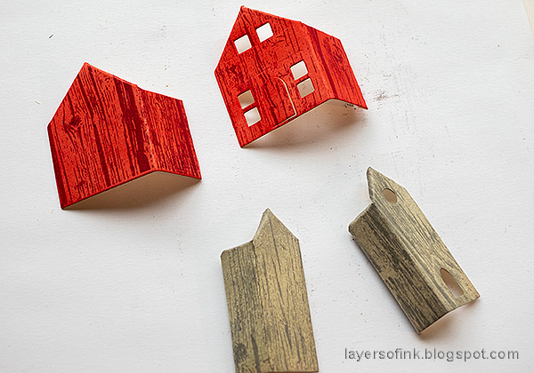 Layers of ink - Spring Village Tutorial by Anna-Karin Evaldsson.