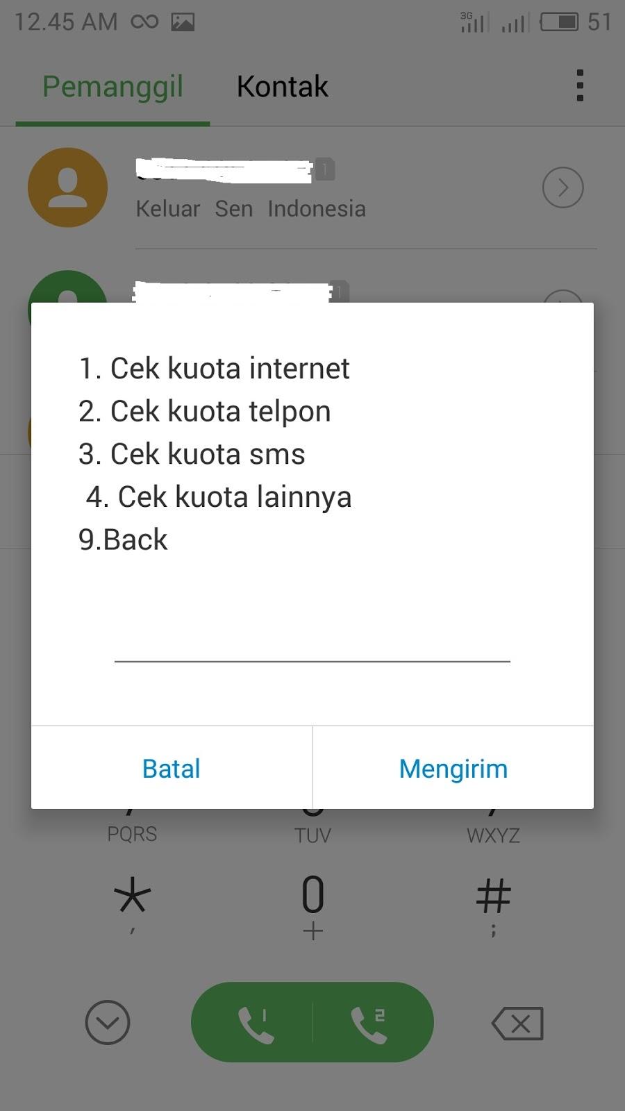Gak Bisa Cek Kuota 889 Telkomsel Ini Cara Terbarunya Gadgethp Internet 12gb Untuk Paket Melalui 888 Juga Kok Jika Kamu Belum Punya Smartphone Android Silahkan Ketik Nomor Dan Pilih 3