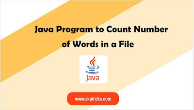 Java Program to Count Number of Words in a File