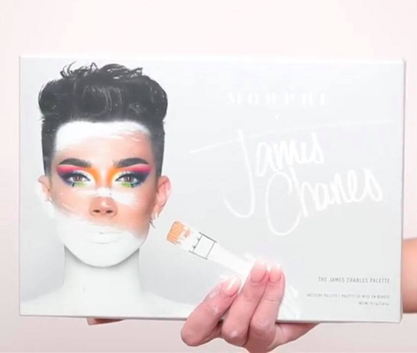 james charles x morphe artistry eyeshadow palette and eye