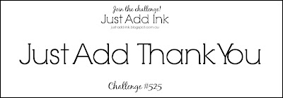 Jo's Stamping Spot - Just Add Ink Challenge #525