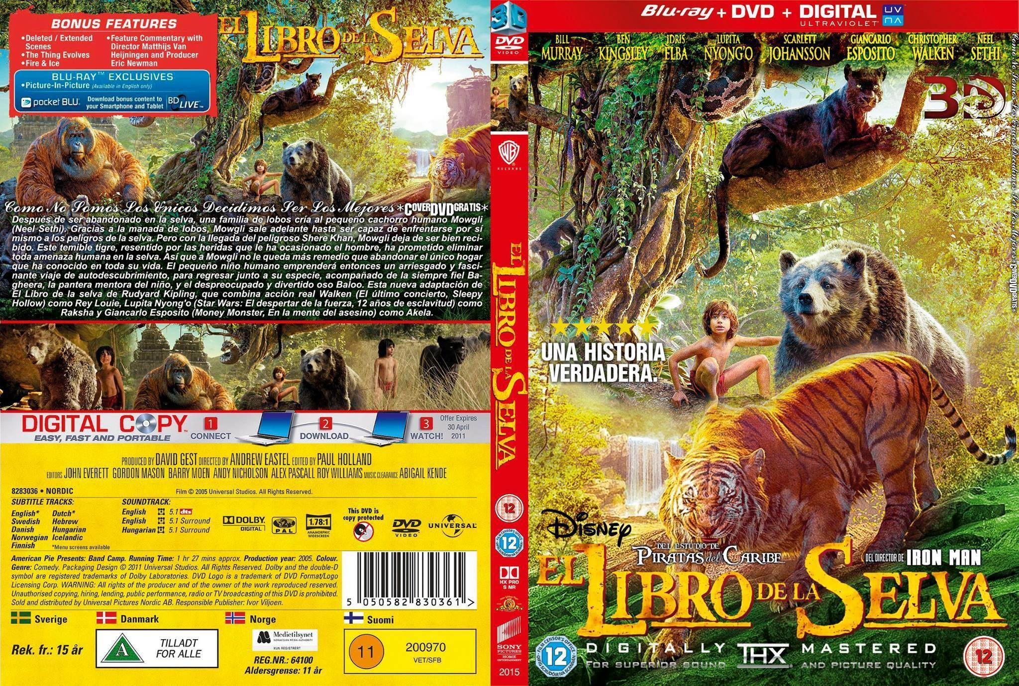 El Libro De La Selva (2016) (DVDrip Latino) Descarga