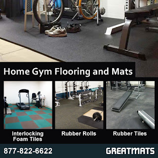 Greatmats home gym flooring and mats