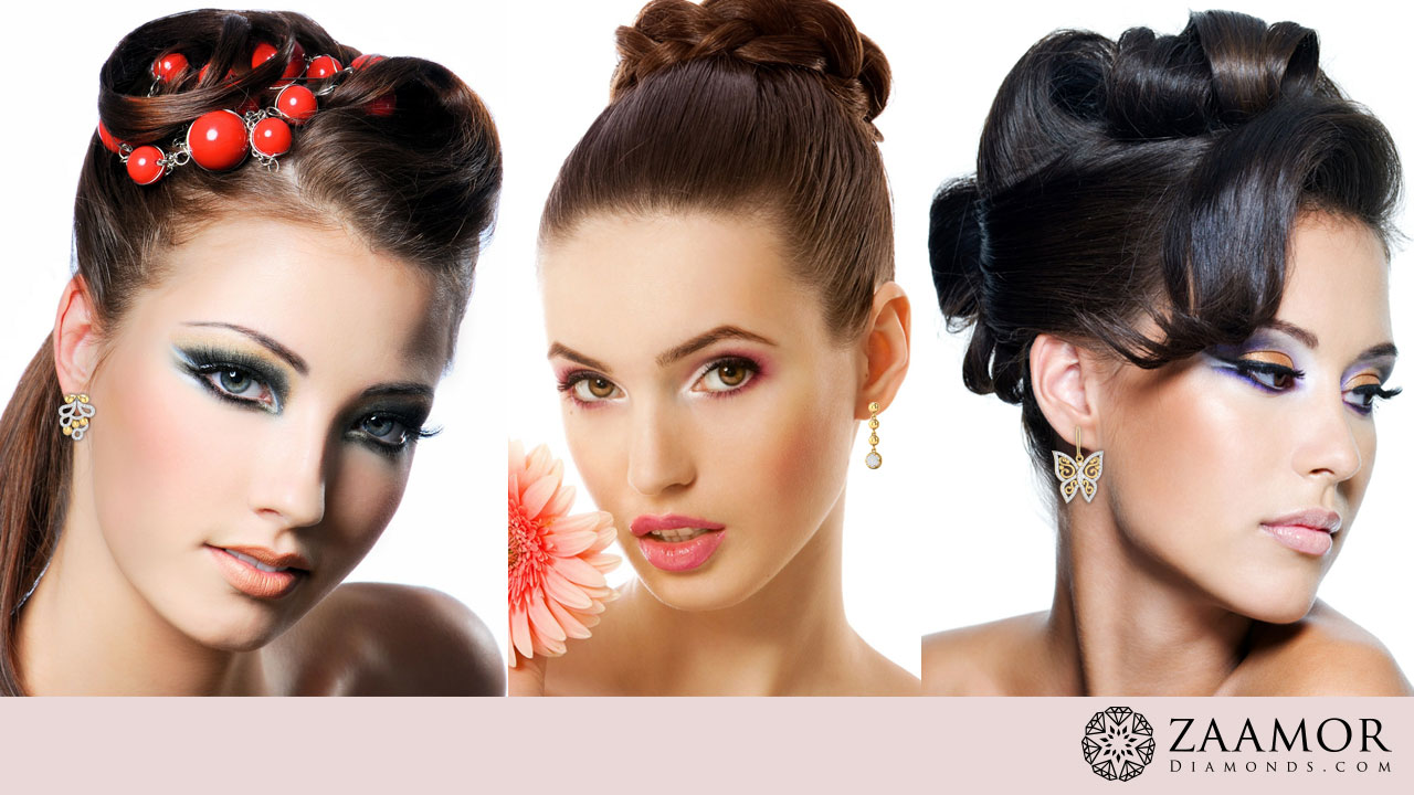 Find Right Pair of Earrings for Perfect Hair Style | Zaamor Diamonds ...