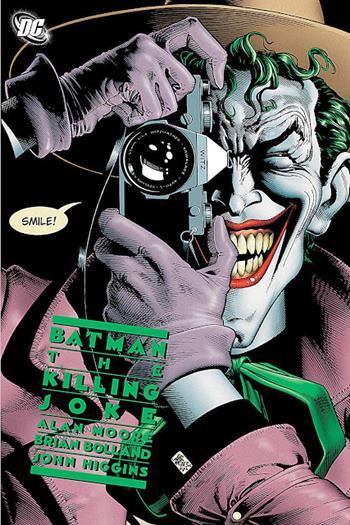 Portada de La Broma Asesina, cómic de Alan Moore sobre Batman y el Joker
