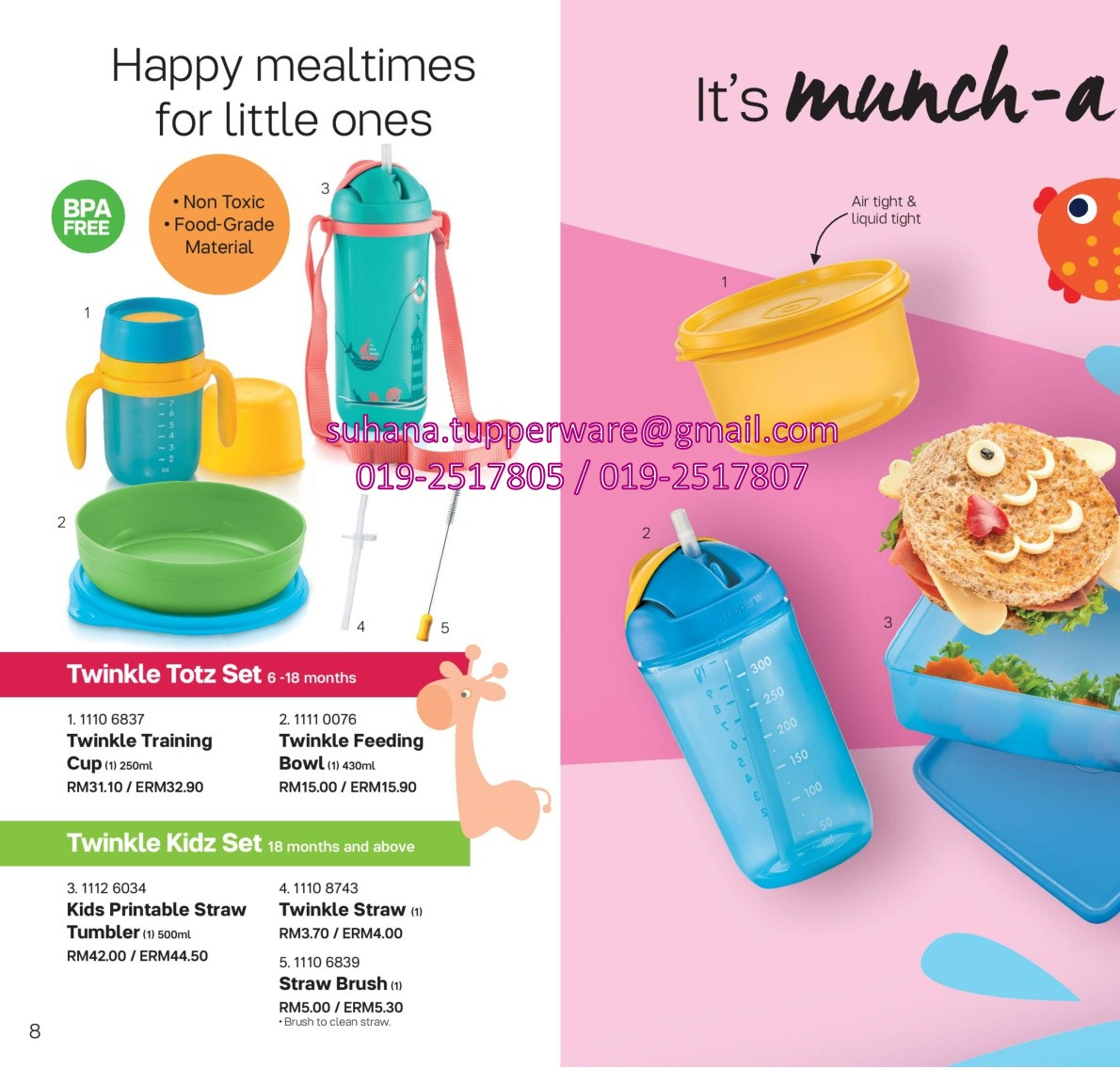 Tupperware Brands Malaysia Online Catalogue Collection New Eco Botol Minum Hijau 2 L Baby Shark Toddler Set Pwp Bag