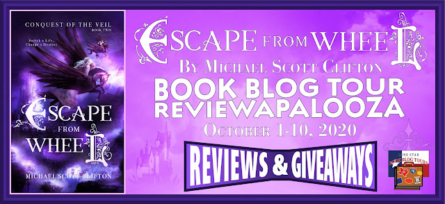 Escape from Wheel book blog tour promotion banner