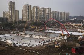 Wuhan hospital concrete work