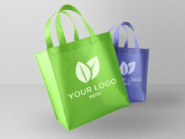 Branding logo on hand carrying bags