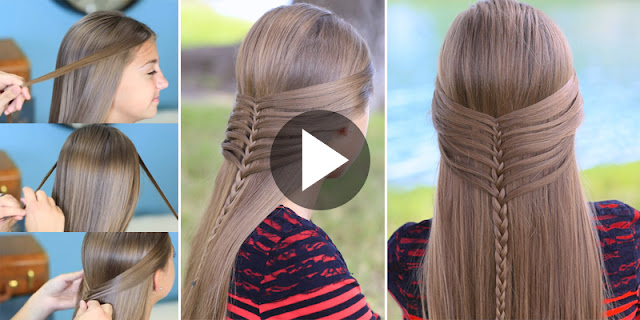 How To Create Mermaid Half Braid Hairstyle, See Tutorial