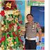 Kreatif, Polres Ini Membuat Pohon Natal Dari Barang Sitaan