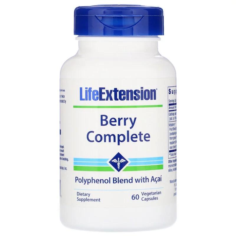 Life Extension, Ягодный комплекс, 60 вегетарианских капсул