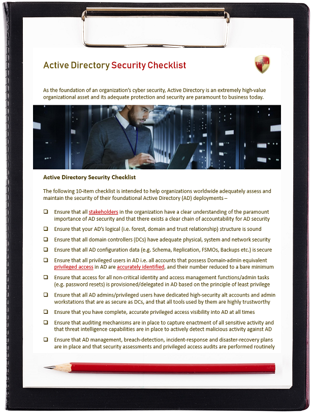 Active Directory Security Checklist