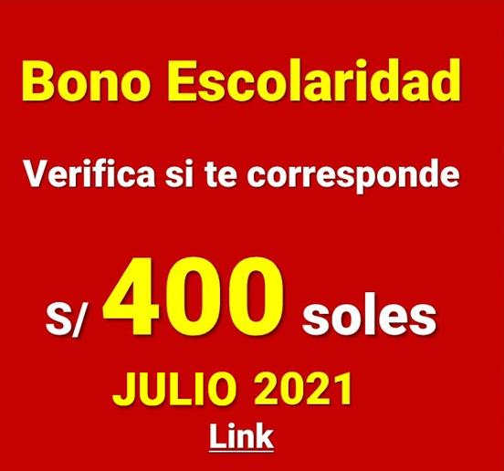 Nuevo Bono Escolaridad Para Trabajadores Del Área Pública Julio 2021
