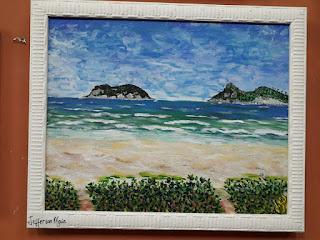 Therezinha Hillal 14 de outubro às 18:35 Essa bela marinha é pintura de Jefferson Maia, pintada com a boca. Está exposta no SALÃO BRASIL BELEZA E CORES da SBBA PSRABENS, RECEBEU IMPORTANTE PREMIAÇÃO