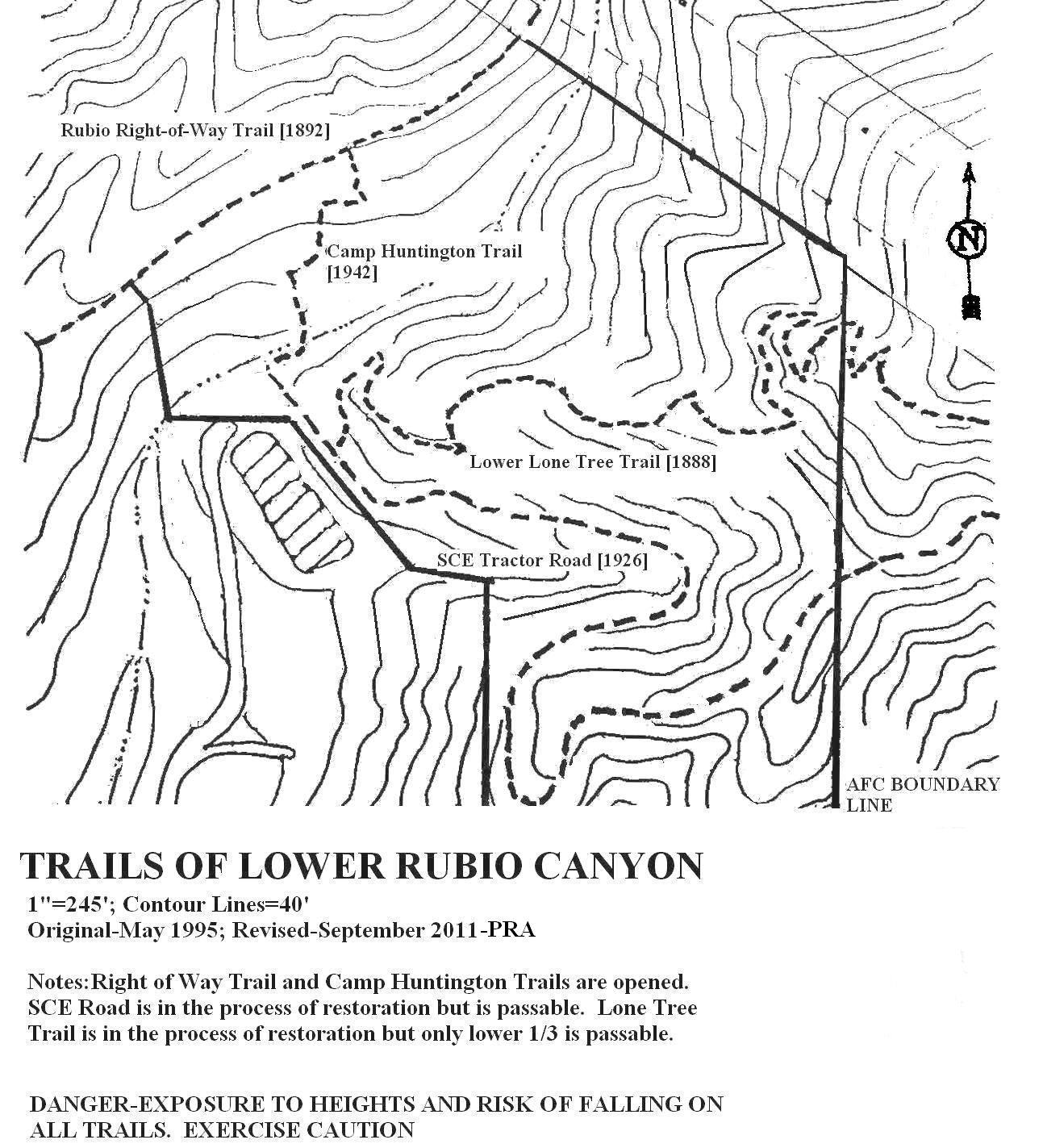 To Da Loos November 2011: Dan's Hiking Blog: Rubio Canyon Hikes