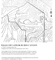 Trails of Lower Rubio Canyon