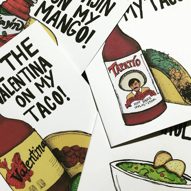 Tacos & Hot Sauce! - Unique Valentines Day Cards
