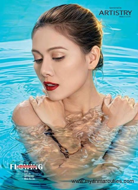 May in swimming pool