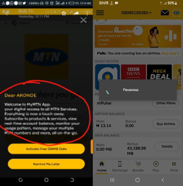 MTN Latest Free Data Accumulation Cheat 2020 Upto 20GB