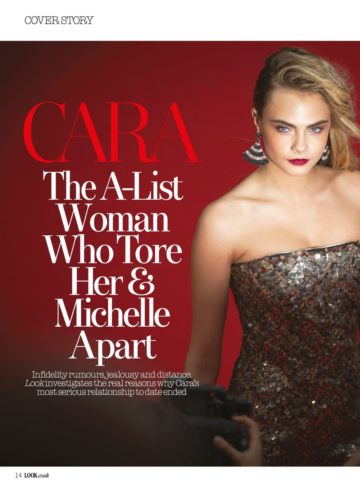 Cara Delevingne poses for Look Magazine June 2014
