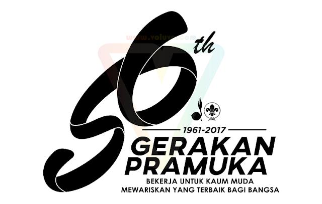 Logo 56th Gerakan Pramuka 2017 Hitam