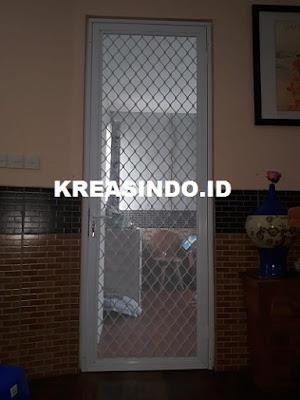 Pintu Expanda Aluminium pesanan Bu Robert di Rancamaya Ciawi Bogor