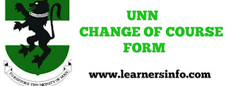 HOW TO CHANGE COURSE IN UNN