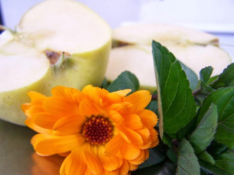Mermelada de manzana con menta y calendula, da un toque especial a los quesos y foies.